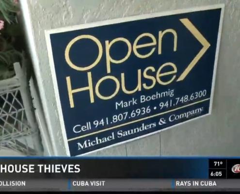 Real Estate Agent Sarasota FL Open House Sign