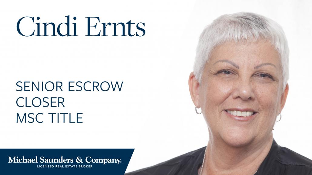 Cynthia Ernst, Escrow Agent